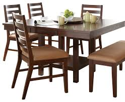 dining table set with lazy susan. steve silver eden dining table with 18 inch lazy susan in dark cherry transitional-folding set e