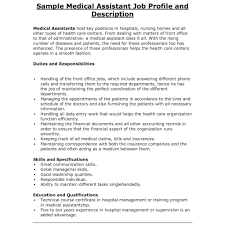 Front Office Medical Assistant Job Description Administrative Assistant Responsibilities Resume As Well Executive