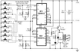 simple code lock circuit code lock circuit schematic
