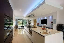 Contemporary Linear Kitchen Island U2013 Transform Architects U2013 House Contemporary Open Plan Kitchen Living Room