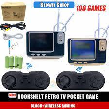 GV300 Tivi Mini Video Game Tay Cầm Gắn Trong 108 Trò Chơi Cổ Điển, 3.0
