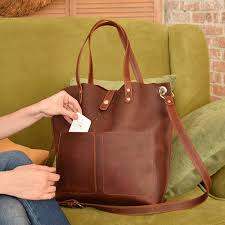 leather laptop bag women with zipper laptop tote bag with image