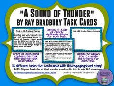 a sound of thunder short story by ray bradbury presentation   a sound of thunder by ray bradbury task cards editable templates
