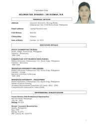Sample Resume For Teacher In The Philippines Unique Resume Sample