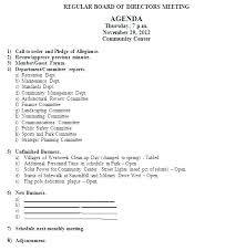 Monthly Meeting Minutes Sample Agenda Template Previous Board Room