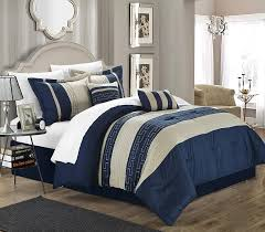 beige comforter set queen. Delighful Queen Amazoncom Chic Home Carlton 6Piece Comforter Set Queen Size Blue  U0026 Kitchen On Beige Set G