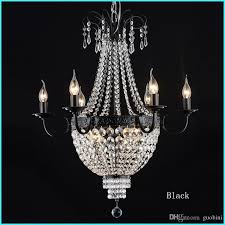 gorgeous french empire crystal chandelier light fixture vintage crystal lighting wrought iron white chrome black white color drum chandelier bathroom