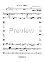 dies irae sheet music dies irae fantasia violin 2 sheet music for piano and more