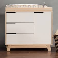 babyletto hudson changer dresser in two tone grey and white free