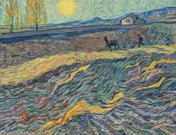 the painting the farmer in the field laboureur dans un champ written by van gogh at the asylum in saint Реми a year before his was top лотом