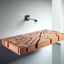wood sink basin water map flat wooden sink by wood wash basin sinks