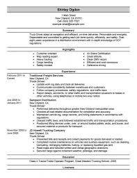 Trucking Resume Sample Resume Template Truck Driving Resume Examples Sample Resume Template 13