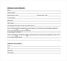 Sample Employee Complaint Form Template – Mklaw