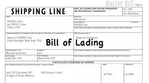 Example Of Bill Of Lading Document Bill Of Lading Meaning Definition Importance Of Lading