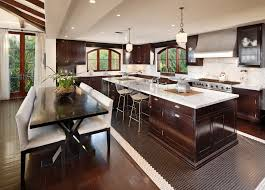 dark stained kitchen cabinets. Image By: Natural Stone Gallery Dark Stained Kitchen Cabinets G