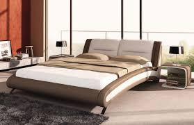 J211 Contemporary Beige Eco-Leather Bed
