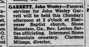 21 August 1938 Atlanta Consistution Is this Wesley Garrett - Newspapers.com
