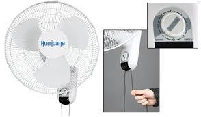 oscillating wall fan. Hurricane 16in Wall Mount Oscillating Fan Image 1