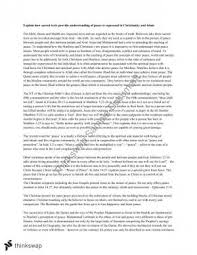 religion and peace essay studies of religion ii year hsc  essay on religion and peace