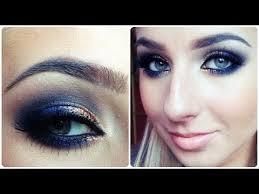prom makeup tutorial quick navy blue y eye
