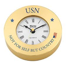 U S Navy Brass Clock Chart Weight Not For Self But For