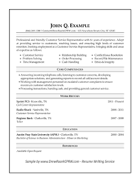 list of core competencies for resumes professional executive military resume samples by drew roark cprw
