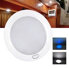 5 dimmable led cabin dome light blue mood ambiance light ultra slim led lamp caravan motorhome rv lamp roof dome light in ceiling lights from lights