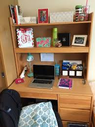 desk organizing dorm residencehall college life