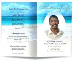 Free Funeral Program Templates Publisher