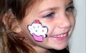 easy flower face painting designs ideas
