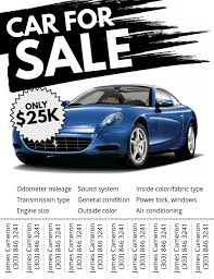 Car For Sale Template Car For Sale Flyer Template Postermywall