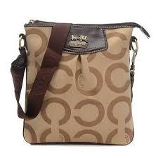 Coach Swingpack In Signature Medium Khaki Crossbody Bags CEY Outlet Online