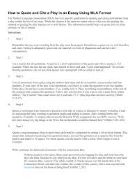 Resume Templates Mla Everything You Need To Know Here Essay Quote
