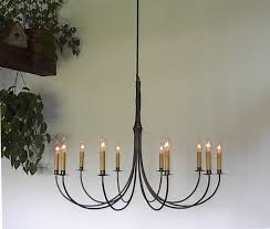 ace wrought iron custom large chandelier 10 arm