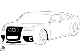 Audi Auto Kleurplaat Gratis Kleurplaten Printen