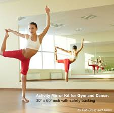mirror 36 x 60. activity mirror kit for gym and dance: 36\ 36 x 60