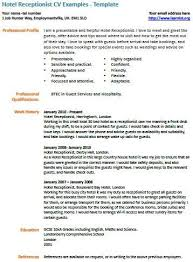 Student Receptionist Sample Resume Mesmerizing Hotel Receptionist Cv Example Work Pinterest Cv Examples