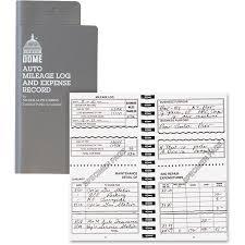 Mileage Book Dome Dom750 Auto Mileage Expense Record Book 1 Each White
