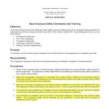 sample safety plan safety orientation template construction safety plan template staff