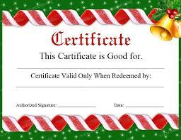 Printable Christmas Certificates Free Printable Christmas Certificates Barca Fontanacountryinn Com