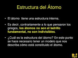 Resultado de imagen de La estructura del átomo