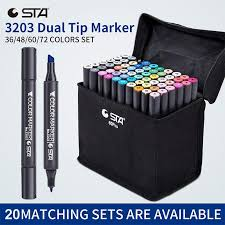 2019 sta dual tip art marker 36 48 60 alcohol based pen set for painting design sharpie sketch markers artist supplies c18112001 from mingjing03