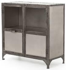 Fronzoni Industrial Loft Wide Metal Shoe Locker Style Sideboard industrial -storage-cabinets