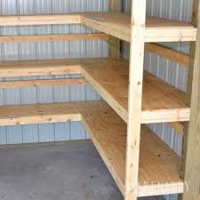 storage shelving ideas. Fine Ideas Great Idea For DIY Corner Shelves To Create Storage In A Garage Or Pole  Barn Throughout Storage Shelving Ideas G