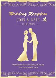 Wedding Invitations Templates Purple Free Purple Background Wedding Invitation Templates