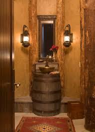 rustic half bathroom ideas. Lighting Ideas Rustic Bathroom Vanity Wall Sconces In Lights For  Rustic Half Bathroom Ideas
