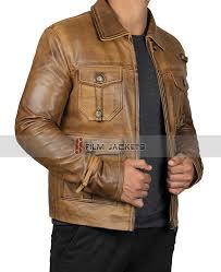 vintage camel leather jacket