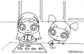 Small Picture Girls making cookies coloring pages Hellokidscom
