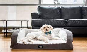 Modern Sherpa Dog Bed