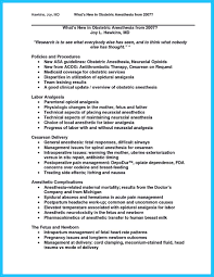 Nurse Anesthetist Resume Crna Resume Objective Template Example Nurse Anesthetist Free 6